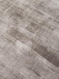 Tappeto rotondo in viscosa tessuto a mano Jane, Retro: 100% cotone, Taupe, Ø 200 cm (taglia L)