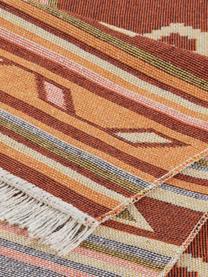 Kelimteppich Tansa im Ethno-Style aus Baumwolle, 100% Baumwolle, Orange, Mehrfarbig, B 160 x L 220 cm (Größe M)