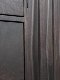 Skříňka z masivního mangového dřeva Kent, Konstrukce: lakované mangové dřevo Úchyty: kov