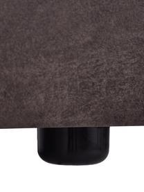 Sessel Lennon in Braungrau aus recyceltem Leder, Bezug: Recyceltes Leder (70% Led, Gestell: Massives Kiefernholz, Spe, Füße: Kunststoff, Leder Braungrau, B 130 x T 101 cm