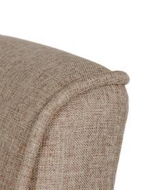 Krzesło tapicerowane z lnu Capitone, Tapicerka: len, 230g/m2, Nogi: drewno kauczukowe, Beżowy, S 47 x G 52 cm