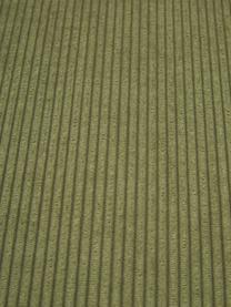 Chaise-longue componibile in velluto a coste verde Lennon, Rivestimento: velluto a coste (92% poli, Struttura: legno di pino massiccio, , Piedini: plastica I piedini si tro, Velluto a coste verde, Larg. 357 x Prof. 119 cm