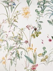 Federa arredo con stampa floreale Anjuli, 100% cotone, Bianco, multicolore, Larg. 40 x Lung. 40 cm