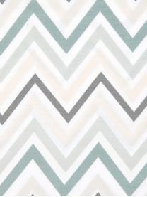 Poszewka na poduszkę z satyny bawełnianej Maui, 2 szt, Biały, zielony, S 40 x D 80 cm