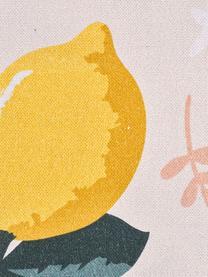 Runner con motivo limoni Lemon, Cotone, Beige, giallo, verde, Larg. 40 x Lung. 145 cm