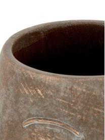 Übertopf Consi aus Zement, Zement, beschichtet, Messingfarben, Ø 18 x H 25 cm
