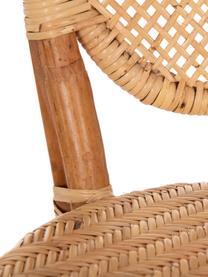 Krzesło z rattanu Laia, Rattan ze splotem polypeel, Beżowy, S 61 x G 47 cm