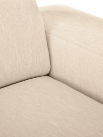 Hoekbank Melva (3-zits) in donkerbeige, Bekleding: 100% polyester, Frame: massief grenenhout, FSC-g, Poten: kunststof, Geweven stof donkerbeige, B 239 x D 143 cm