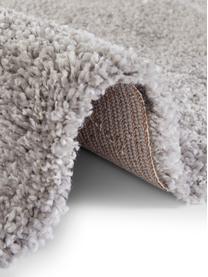 Flauschiger Hochflor-Teppich Mayrin mit marmoriertem Muster, Flor: 100% Polypropylen, Grau, Cremefarben, B 200 x L 290 cm (Größe L)