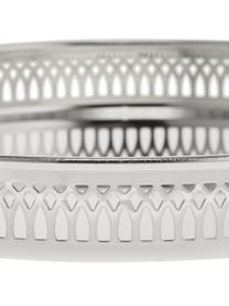 Rundes Spiegeltablett Delphi in Ø 30 cm, versilbert, Stahl, versilbert, Silber, Ø 30 cm
