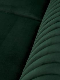 Fluwelen bank Dante (3-zits) in groen met houten poten, Bekleding: polyesterfluweel, Frame: gelakt rubberhout, Groen, B 210 x D 87 cm