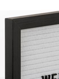 Lavagna Wallplaque con 291 pz, Cornice: legno naturale, Grigio, Larg. 26 x Alt. 26 cm