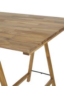 Tavolo in legno massello Trestle, Legno di teak, finitura naturale, Legno di teak, Lung. 180 x  Prof. 80 cm