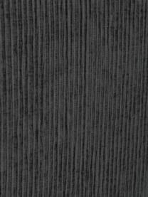 Premium Cord-Boxspringbett Eliza in Dunkelgrau, Matratze: 5-Zonen-Taschenfederkern, Füße: Massives Birkenholz, lack, Samt Dunkelgrau, 200 x 200 cm
