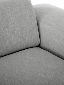 Bank Melva (3-zits) in grijs, Bekleding: polyester, Frame: massief grenenhout, spaan, Poten: grenenhout, Grijs, B 240 x D 101 cm