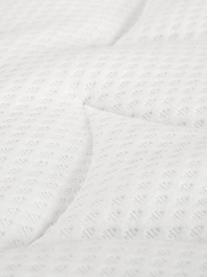 Premium Samt-Boxspringbett Lacey in Hellgrau, Matratze: 7-Zonen-Taschenfederkern , Füße: Massives Buchenholz, lack, Samt Hellgrau, 180 x 200 cm