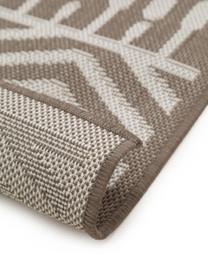 In- & Outdoor-Teppich Nillo mit Ethnomuster, 100% Polyethylen, Taupe, Creme, B 200 x L 290 cm (Größe L)