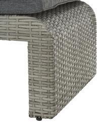 Leżak ogrodowy London, Stelaż: plecionka polietylenowa, Szary, D 197 x S 60 cm