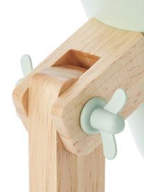 Lampada da scrivania con base in legno Swivel, Paralume: metallo, Base della lampada: metallo, Verde menta, legno, Larg. 16 x Alt. 52 cm