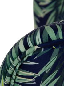 Fotel koktajlowy z aksamitu Fennel, Tapicerka: 100% aksamit poliestrowy, Stelaż: drewno sosnowe, płyta pil, Nogi: drewno brzozowe, Zielony, ciemny niebieski, S 70 x G 58 cm