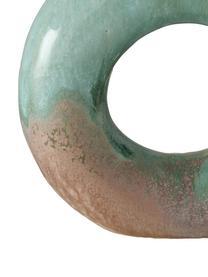 Glasierte Vase Peruya, Steingut, Grün, Beige, 19 x 21 cm
