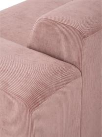 Cord-Ecksofa Melva (4-Sitzer) in Rosa, Bezug: Cord (92% Polyester, 8% P, Gestell: Massives Kiefernholz, FSC, Füße: Kunststoff, Cord Rosa, B 319 x T 196 cm