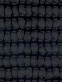 Kissenhülle Iona mit kleinen Stoffkugeln in Schwarz, Vorderseite: 76% Polyester, 24% Baumwo, Rückseite: Baumwolle, Schwarz, 45 x 45 cm