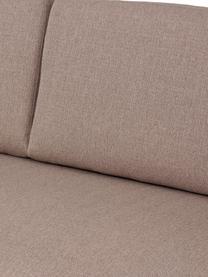 Sofa Fluente (3-Sitzer) in Taupe mit Metall-Füßen, Bezug: 100% Polyester 35.000 Sch, Gestell: Massives Kiefernholz, Füße: Metall, pulverbeschichtet, Webstoff Taupe, B 196 x T 85 cm