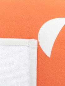 Toalla de playa ligera Ciao, 55%poliéster, 45%algodón Gramaje ligero 340g/m², Blanco, naranja, An 70 x L 150 cm