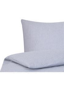 Pościel z bawełny Ellie, Biały, ciemnyniebieski, 135 x 200 cm + 1 poduszka 80 x 80 cm