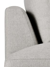 XL-hoekbank Tribeca in beigegrijs, Bekleding: polyester De bekleding is, Frame: massief grenenhout, Poten: massief gelakt beukenhout, Geweven stof beigegrijs, B 405 x D 228 cm