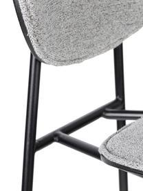Komplet krzeseł barowych Donny, 2 szt., Tapicerka: poliester, Stelaż: metal malowany proszkowo, Szary, czarny, S 39 x W 96 cm
