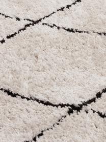 Puszysty ręcznie tuftowany dywan z wysokim stosem Naima, Beżowy, czarny, S 300 x D 400 cm (Rozmiar XL)