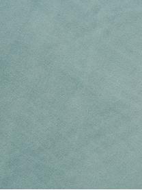 Panca in velluto Beverly, Rivestimento: velluto (poliestere) 50.0, Struttura: legno di eucalipto, Gambe: metallo verniciato a polv, Turchese, Larg. 110 x Alt. 46 cm