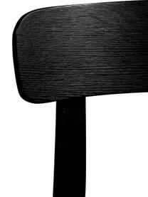 Samt-Polsterstuhl Brandon in Schwarz, Bezug: 100% Polyestersamt Der st, Rahmen: Eschenholz, massiv, lacki, Sitzfläche: Schichtholz, Schwarz, B 46 x T 45 cm