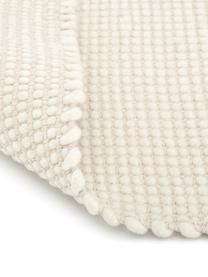 Ręcznie tkany dywan z wełny Amaro, 38% wełna, 22% poliester, 20% bawełna, 20% poliamid   Włókna dywanów wełnianych mogą nieznacznie rozluźniać się w pierwszych tygodniach użytkowania, co ustępuje po pewnym czasie, Kremowobiały, S 200 x D 300 cm (Rozmiar L)