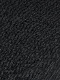 Krzesło z podłokietnikami Isla, Tapicerka: poliester Dzięki tkaninie, Nogi: metal malowany proszkowo, Czarny, S 58 x G 62 cm