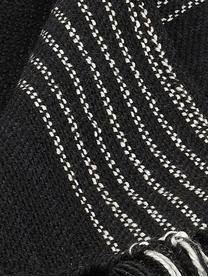 Ethno Plaid Aztecy aus recyceltem PET, PET, recycelt, Schwarz, Weiß, Beige, 130 x 180 cm