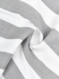 Gestreifte Kissenhülle Timon in Grau/Weiß, 100% Baumwolle, Hellgrau, Weiß, 40 x 40 cm