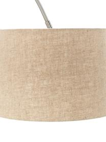 Lampa podłogowa w kształcie łuku Laurence, Beżowy, odcienie srebrnego, Ø 40 x W 188 cm