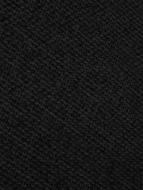 Ecksofa Melva (3-Sitzer) in Schwarz, Bezug: 100% Polyester Der hochwe, Gestell: Massives Kiefernholz, FSC, Füße: Kunststoff, Webstoff Schwarz, B 239 x T 143 cm