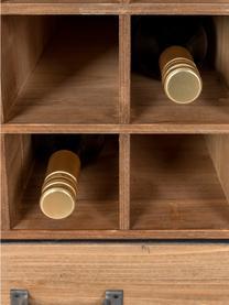 Weinregal Edgar für 15 Flaschen im Industrial Design, Gestell: Metall, pulverbeschichtet, Braun, 56 x 113 cm