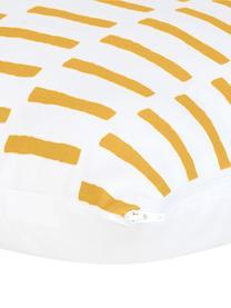 Kissenhülle Jerry in Senfgelb/Weiß, 100% Baumwolle, Gelb-Orange, Weiß, 40 x 40 cm