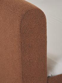 Letto imbottito bouclé color nocciola Serena, Bouclé marrone, 140 x 200 cm