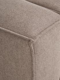 Poltrona in tessuto marrone Lennon, Rivestimento: 100% poliestre Con 115.00, Struttura: legno di pino massiccio, , Piedini: plastica I piedini si tro, Tessuto marrone, Larg. 130 x Alt. 101 cm
