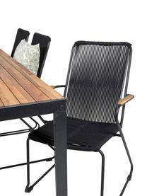 Gartenmöbel-Set Bois, 7-tlg., Sitzfläche: Seil, beschichtet, Schwarz, Braun, Set mit verschiedenen Größen