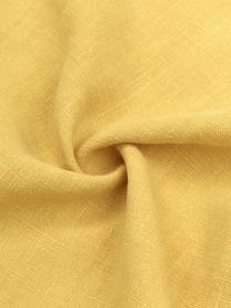 Housse de coussin pur lin jaune Luana, Jaune