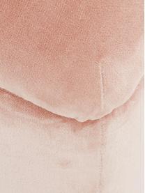 Panca contenitore in velluto Harper, Rivestimento: velluto 20.000 cicli di s, Piedini: metallo verniciato a polv, Rivestimento: rosa cipria Piedini: dorato opaco, Larg. 140 x Alt. 45 cm