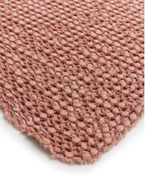 Narzuta ze strukturalną powierzchnią Vigo, 100% bawełna, Jasny blady różowy, 220 x 240 cm (do łóżek od 160 x 200)
