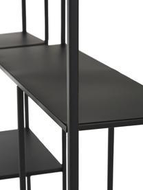 Schwarzes Wandregal Regular aus Metall, Metall, lackiert, Schwarz, 70 x 70 cm